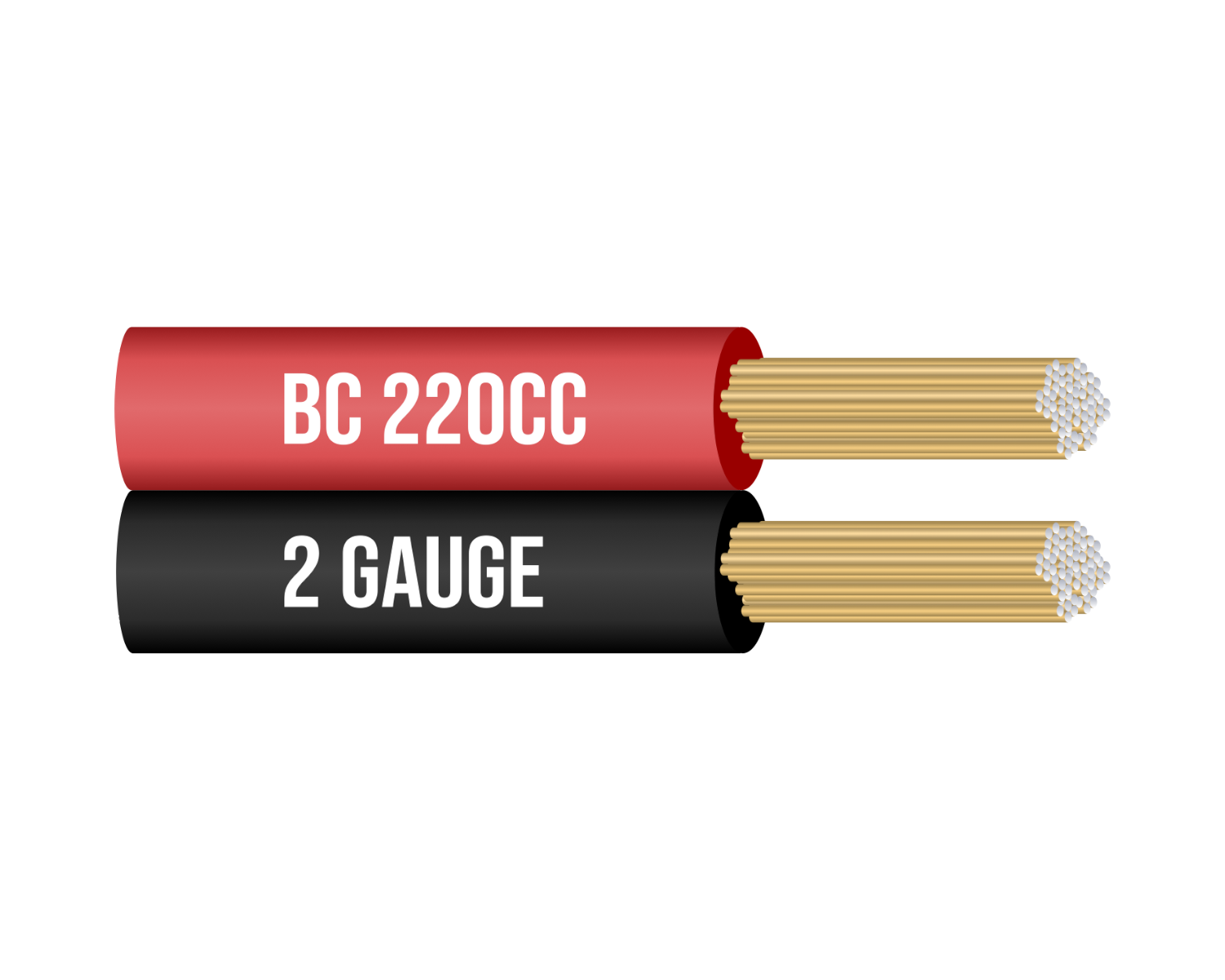 2 Gauge Copper Clad Jumper Cables