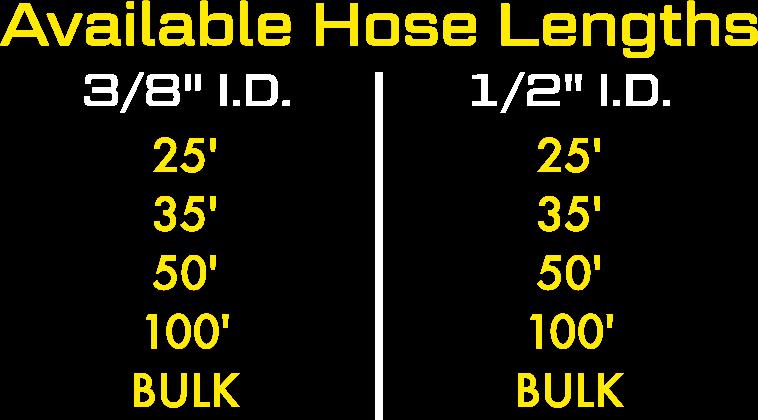 Heat Defense Available Hose Lengths