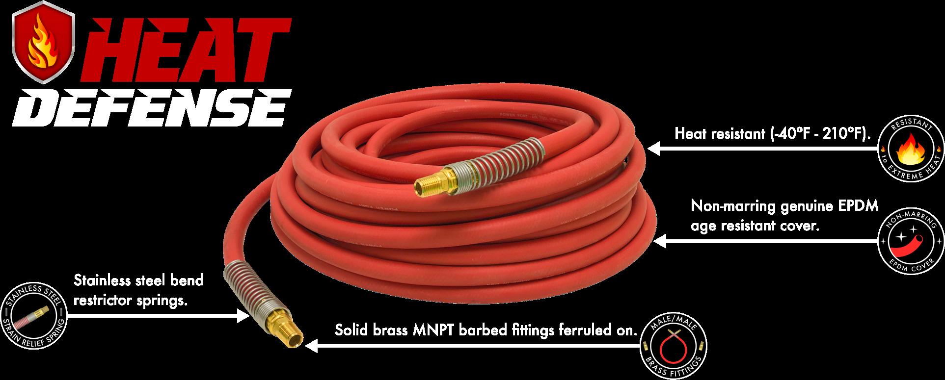 Heat Defense Rubber Air Hose