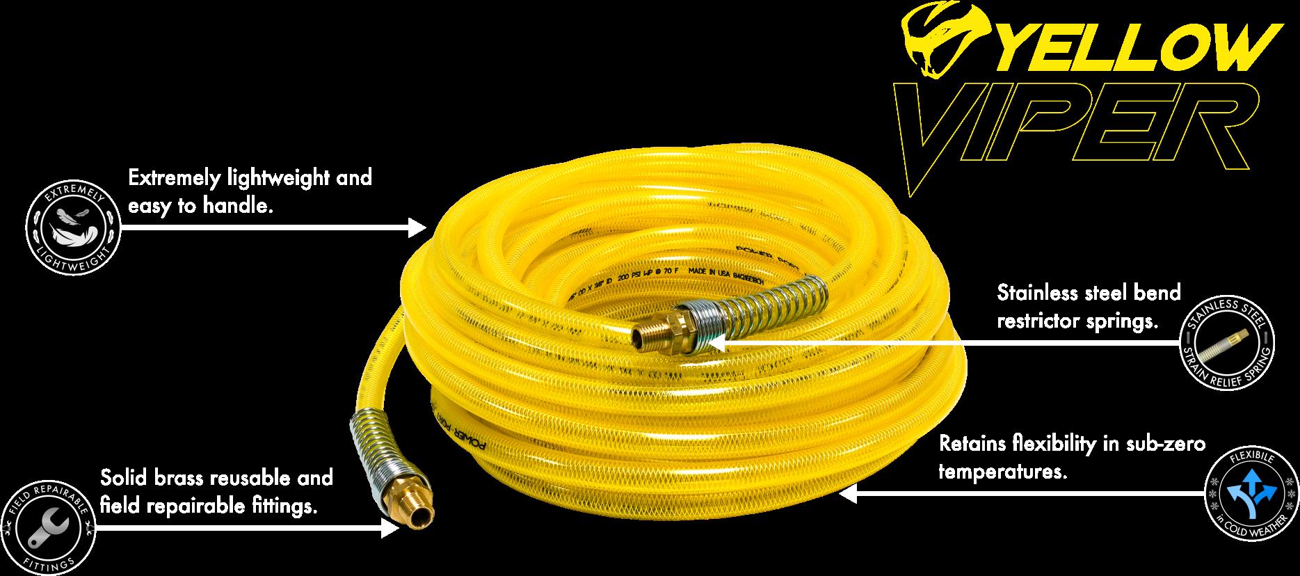 Yellow Viper Polyurethane Air Hose