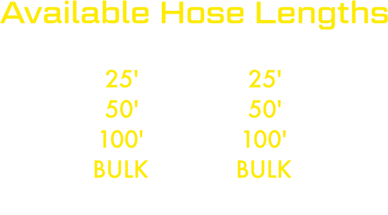 Yellow Viper Available Hose Lengths