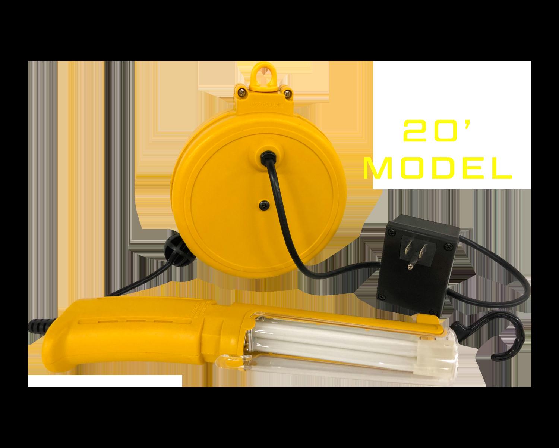 13 Watt Retractable Fluorescent Cord Reel Light