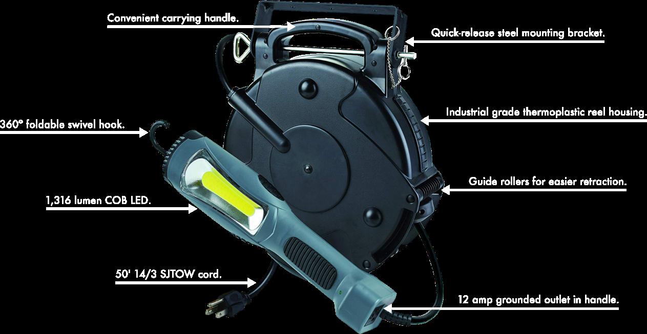 50 Ft. Cord Reel LED Work Light