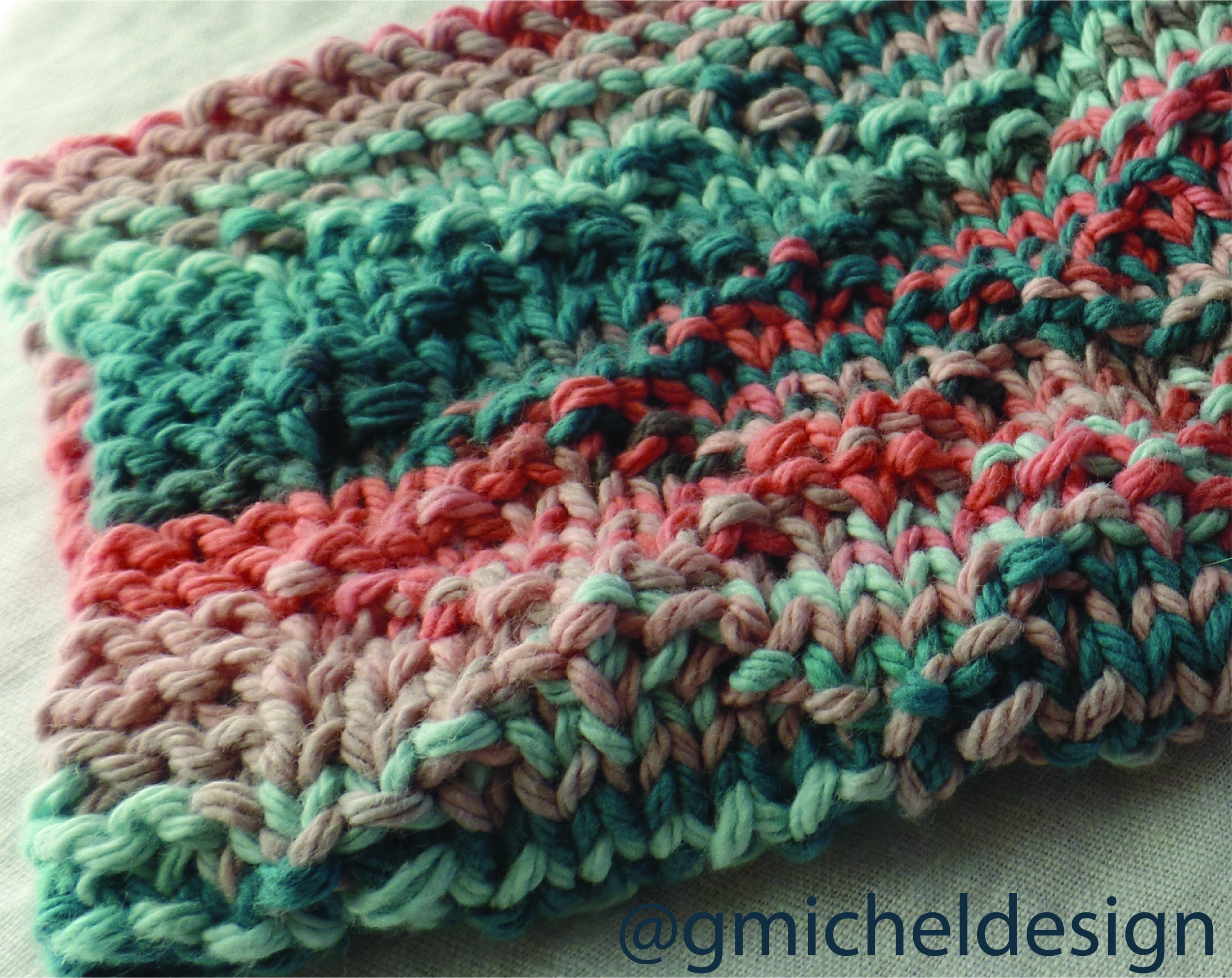 Pattern:    Diamond Brocade Dishcloth    by    Knitting Unlimited   .