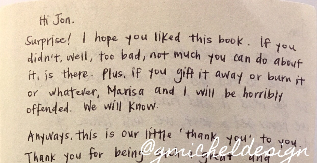 """I hope you liked this book. If you didn't, well, too bad, not much you can do about it, is there."""