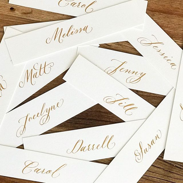 Can't wait to share the project that these pretties go with 💫 @padgetthokejewelry . . . #gold #calligraphy #moderncalligraphy #humpday🐫 #tags #christmasgifts #weddinginspo #design #handlettering #ink #jacksonhole #wyoming #smallbusiness