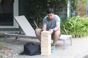 Setting up large  Jenga