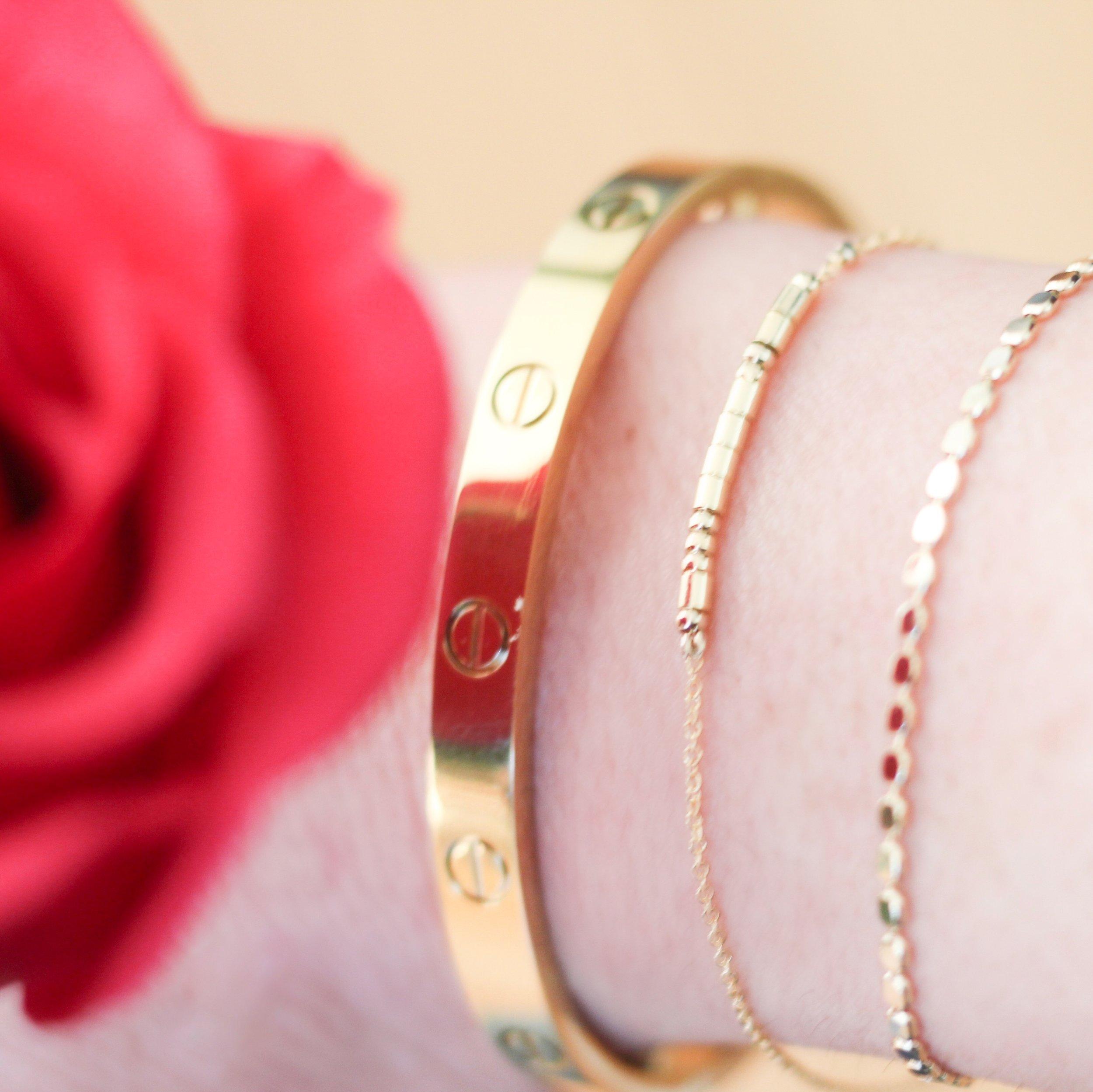 "My "" Cartier "" Love bracelet"
