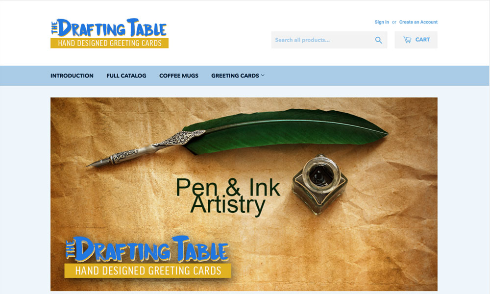 The Drafting Table: Small Business Gift Shop