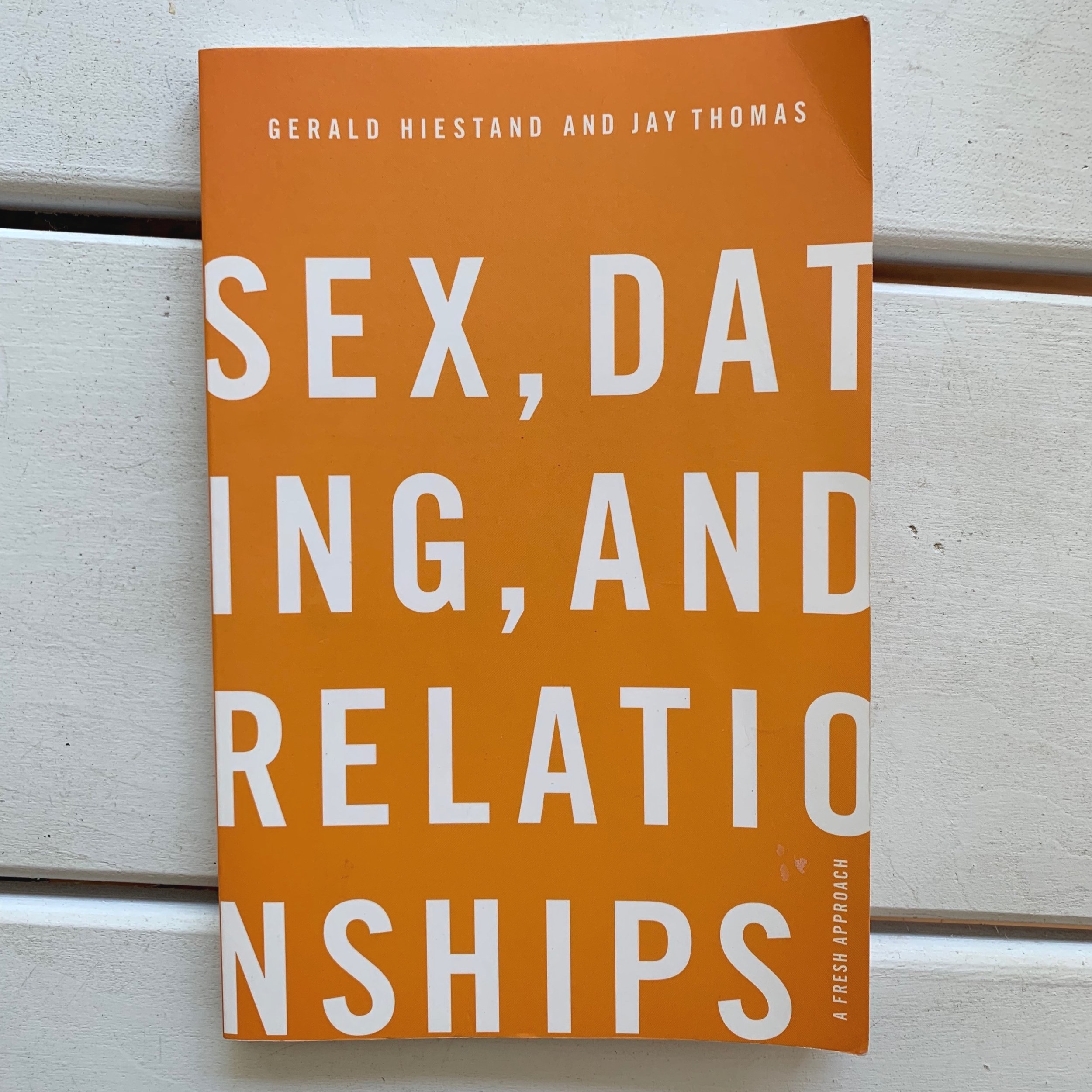 Sex, Dating, and Relationships   Considering the sex-crazed, hook-up based culture we live in- not to mention the ever climbing divorce rate- it's clear that we need a better understanding of sex, dating, and relationships. Pastors Gerald Hiestand and Jay Thomas give us a paradigm-shifting view of purity and relationships- a view that accounts for biblical evidence and helps us guard against unnecessary heartache.  (summery blurb from back of book)
