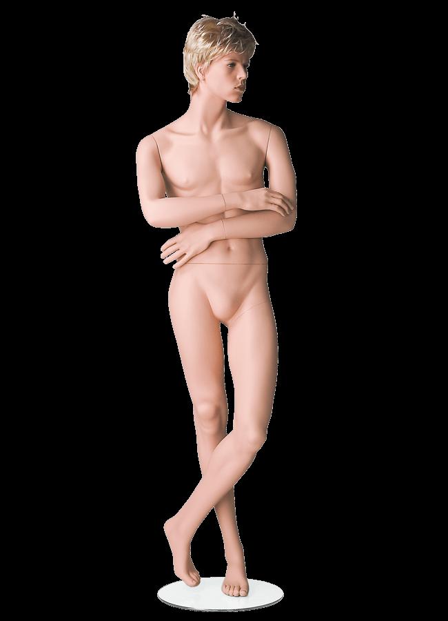 "HEARTBREAKER FEMALE POSE 1  ITEM# HB-F1C  Measurements:  Height 71""  Bust 32-1/2""  Waist 23-3/4""  Hip 34 1/2""  Heel 4"""