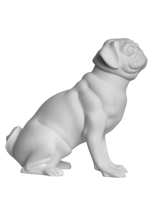 "PUG- WALLACE POS. 1   Height 15 ¼""  Width 9 ¾""  Length 13 ¼"""