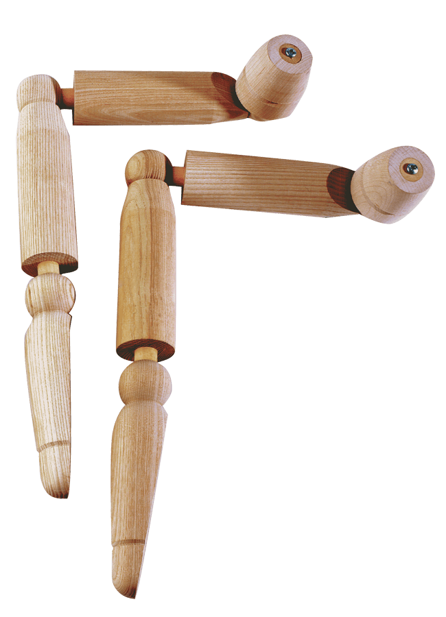 WOODEN ARTICULATED ARMS/HANDS – Male   ITEM#: AH4N-AC  Finish options available