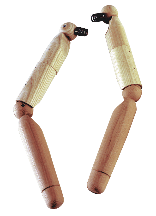 WOODEN ARTICULATED w/ BALL ENDS – Male   ITEM#: AHL  Finish options available