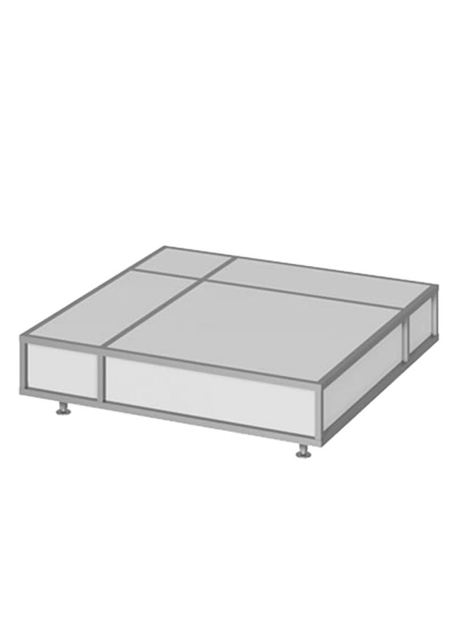 Floor Collection – Cage Platform   ITEM#: CG001A  Aluminum, black, white, silver  Other finishes are available