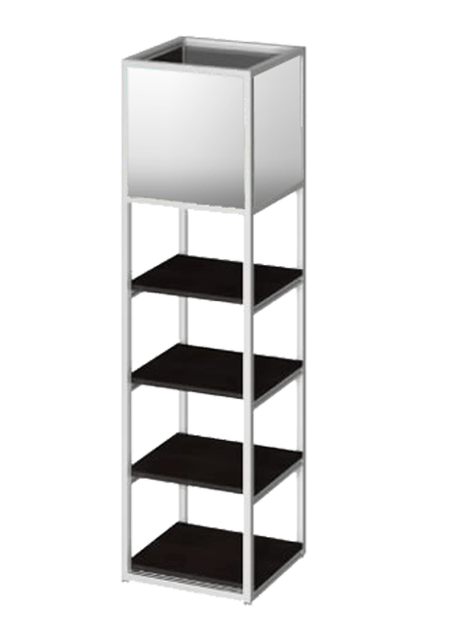 Floor Collection –  Floor Item 1  Aluminum, Black, White  Other finishes are available