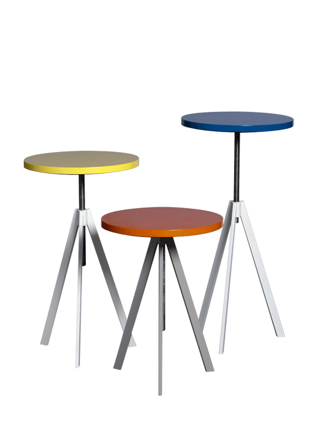 """Modulaire Collection – Adjustable Stool   20"""" dia top  Other finishes are available"""