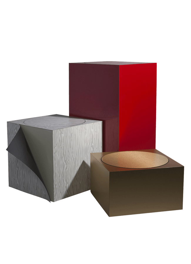 """Mercantile Collection – Rotating Platform   24"""" sq. with heights 14"""", 24"""", 34"""", 44"""" and 54""""  Other finishes are available"""