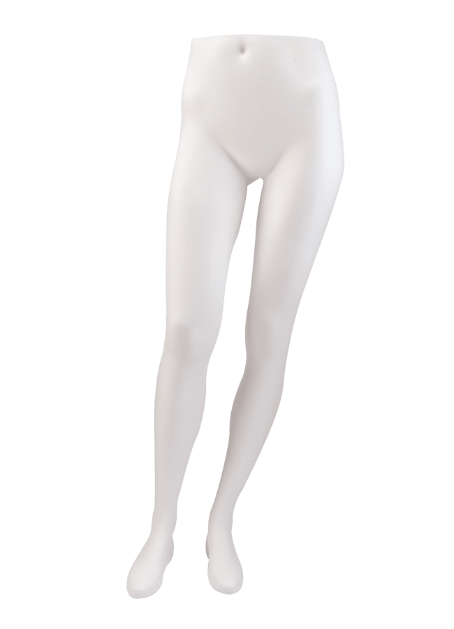 "BERNSTEIN B-LASTIC MANNEQUINS & FORMS - FEMALE   Item# FEMPANT  height 42 ¼""  waist 26 ½""  hip 34 ¼""  Note: Produced in B-lastic TM . Highly break resistant material . Available in a variety of colors & finishes"
