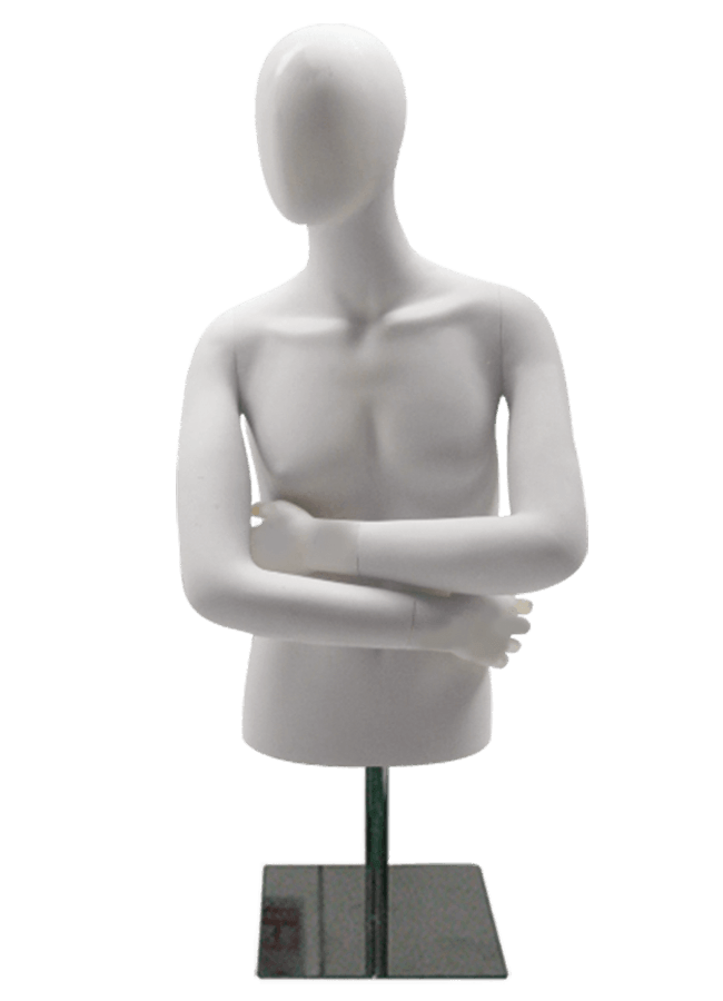 "MD- M1027    Male Measurements:  Height 34 ½"" (form only)  • Shoulder 16""  • Bust 37""  • Waist 30 ½""  • Hip (cut edge) 35 ½"""