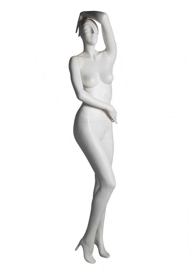 """SHADE Pose 3 RT   Measurements:  Height 74""""  Bust 32-1/4""""  Waist 24-7/8""""  Hip 36-1/2""""  Footprint 9-1/2""""  Heel 4"""""""