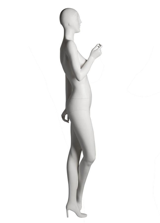 "SHADE Pose 5 R side   Measurements:  Height 74""  Bust 32-1/4""  Waist 24-7/8""  Hip 36-1/2""  Footprint 9-1/2""  Heel 4"""