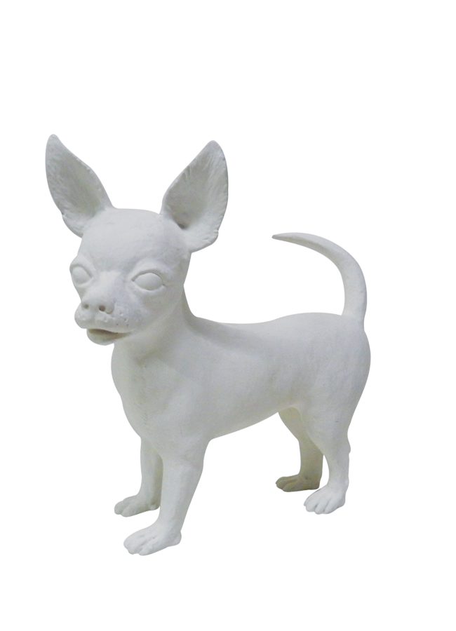 "CHIHUAHUA   Item# MD-DOG5  Height 13""  Width 6""  Length 11 ¾"""