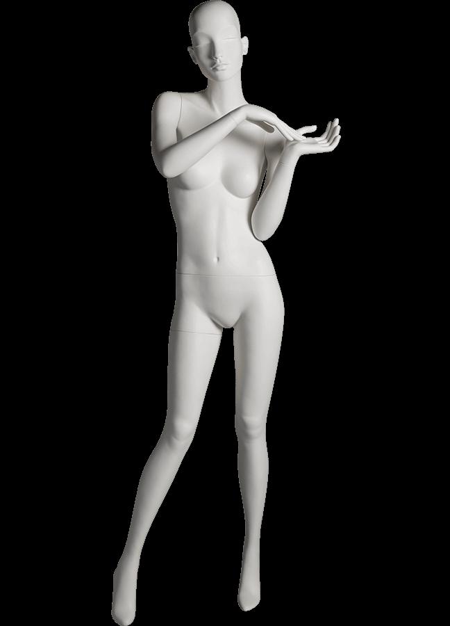 "HEARTBREAKER FEMALE POSE 2 FRONT   ITEM# HB-F2C  Measurements:  Height 71""  Bust 32-1/2""  Waist 23-3/4""  Hip 34 1/2""  Heel 4"""