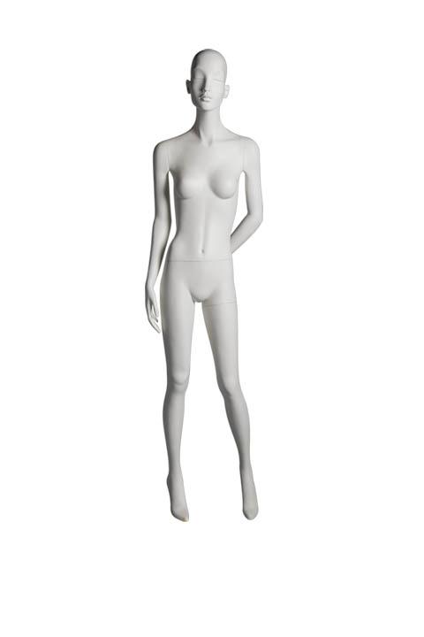 "HEARTBREAKER FEMALE POSE 3 FRONT   ITEM# HB-F3C  Measurements:  Height 71""  Bust 32-1/2""  Waist 23-3/4""  Hip 34 1/2""  Heel 4"""