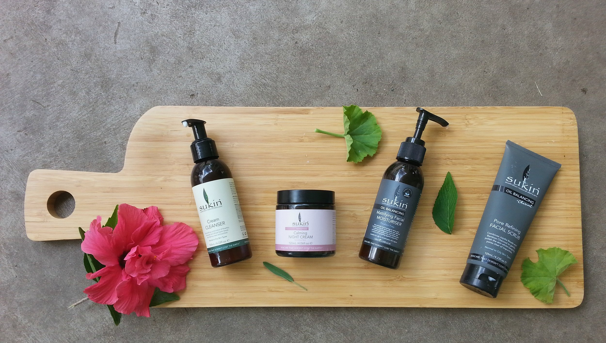 STEAL THE WAXING MOON SKINCARE ROUTINE |   Night cleanser -    Sukin Cream Cleanser    / Night moisturiser -    Sukin Calming Night Cream    / Twice weekly exfoliation -    Sukin Pore Refining Facial Scrub    / Day moisturiser -    Sukin Mattifying Facial Moisturiser