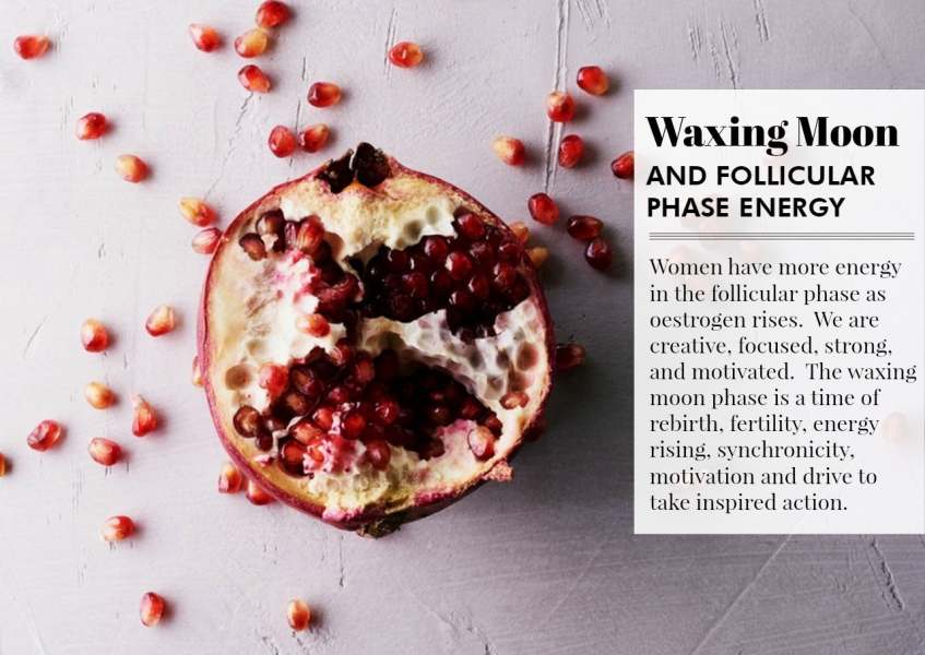 waxing moon follicular energy