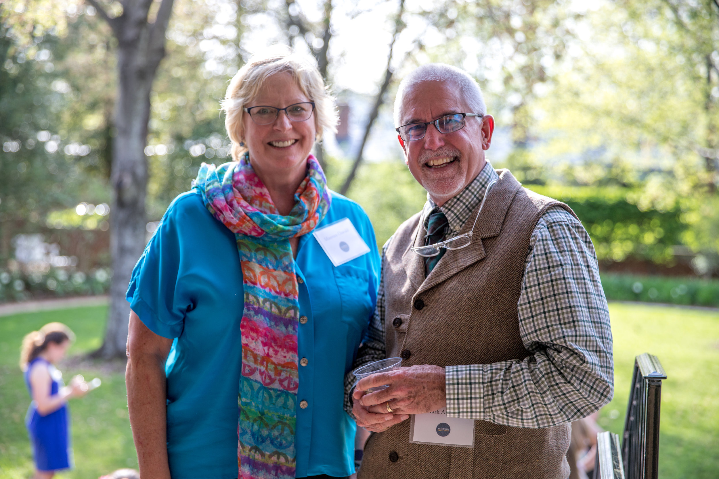 Longtime Madison House Community Partners Maureen Oswald, Volunteer Coordinator for the UVA Hospital, and Mark Andrews, Executive Director of Therapeutic Adventures, Inc.