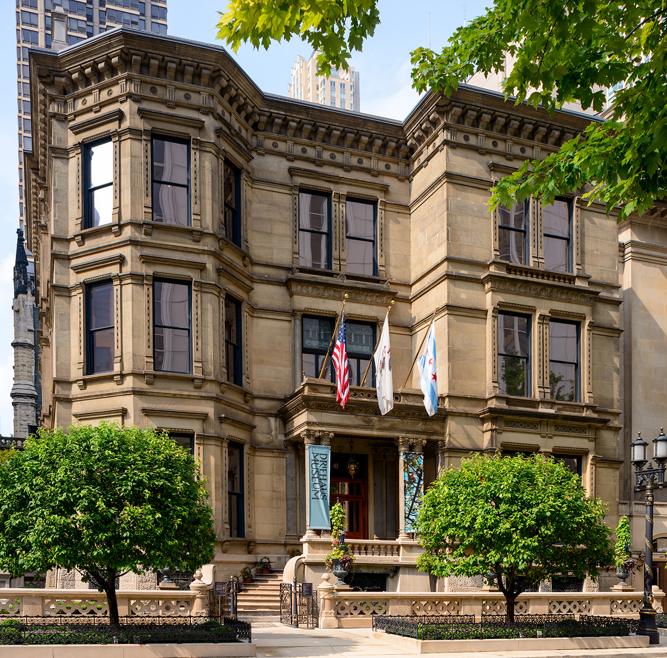 The museum's magnificent home in the former Nickerson Mansion.