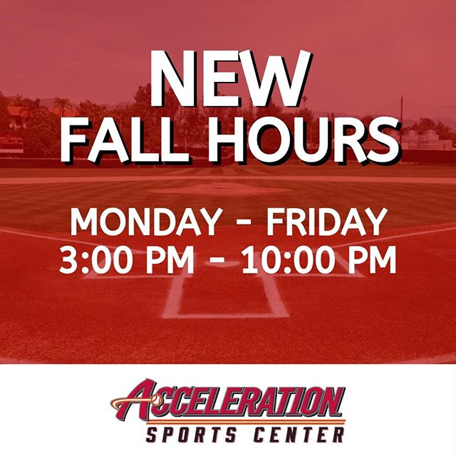 As Summer comes to an end, we are ramping up for our NEW Fall Hours ⚾ We will be open Monday - Friday from 3:00 PM - 10:00 PM.  Rent a lane ⚾ Reserve the court 🏀 Lift some weights 💪