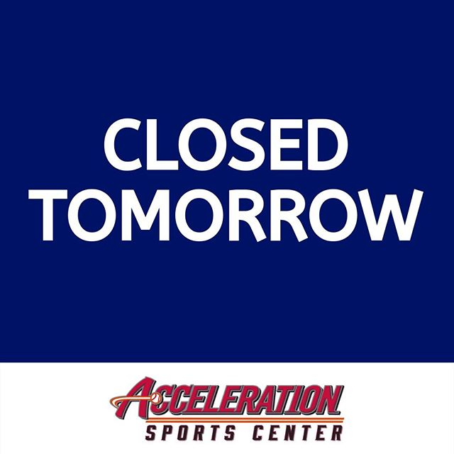Our facility will be closed tomorrow, Monday 👈  in observance of Labor Day.