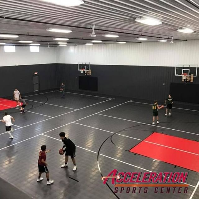 For $15, you can rent half the court at Acceleration Sports Center for basketball 🏀, volleyball 🏐 or a fitness class 💪