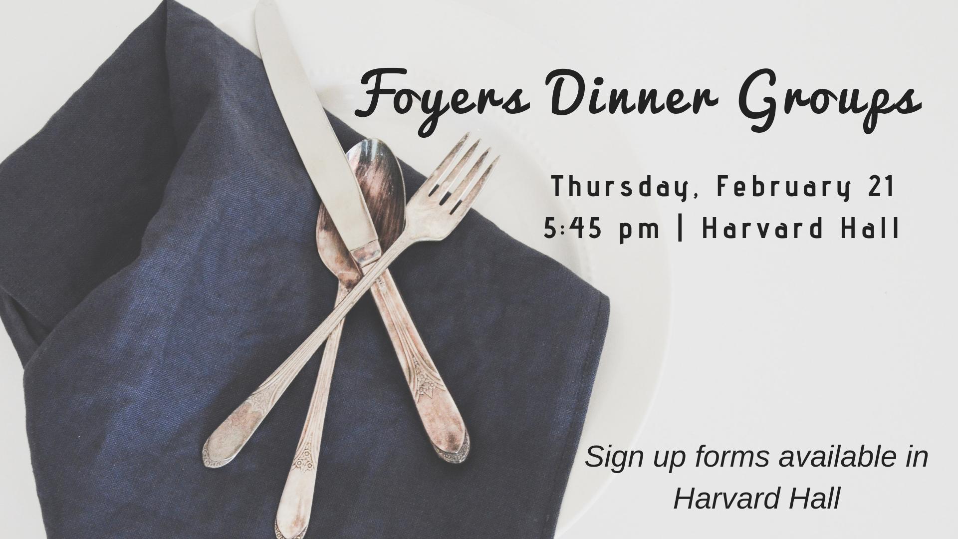 Foyer Dinner Groups
