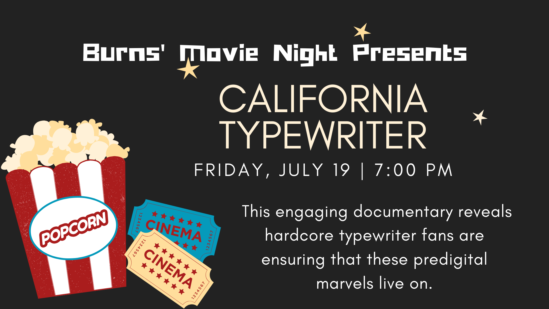 Once a key technology in business and literature, manual typewriters are viewed by most people as quaint 20th century artifacts. But as this engaging documentary reveals, hardcore typewriter fans are ensuring that these predigital marvels live on.