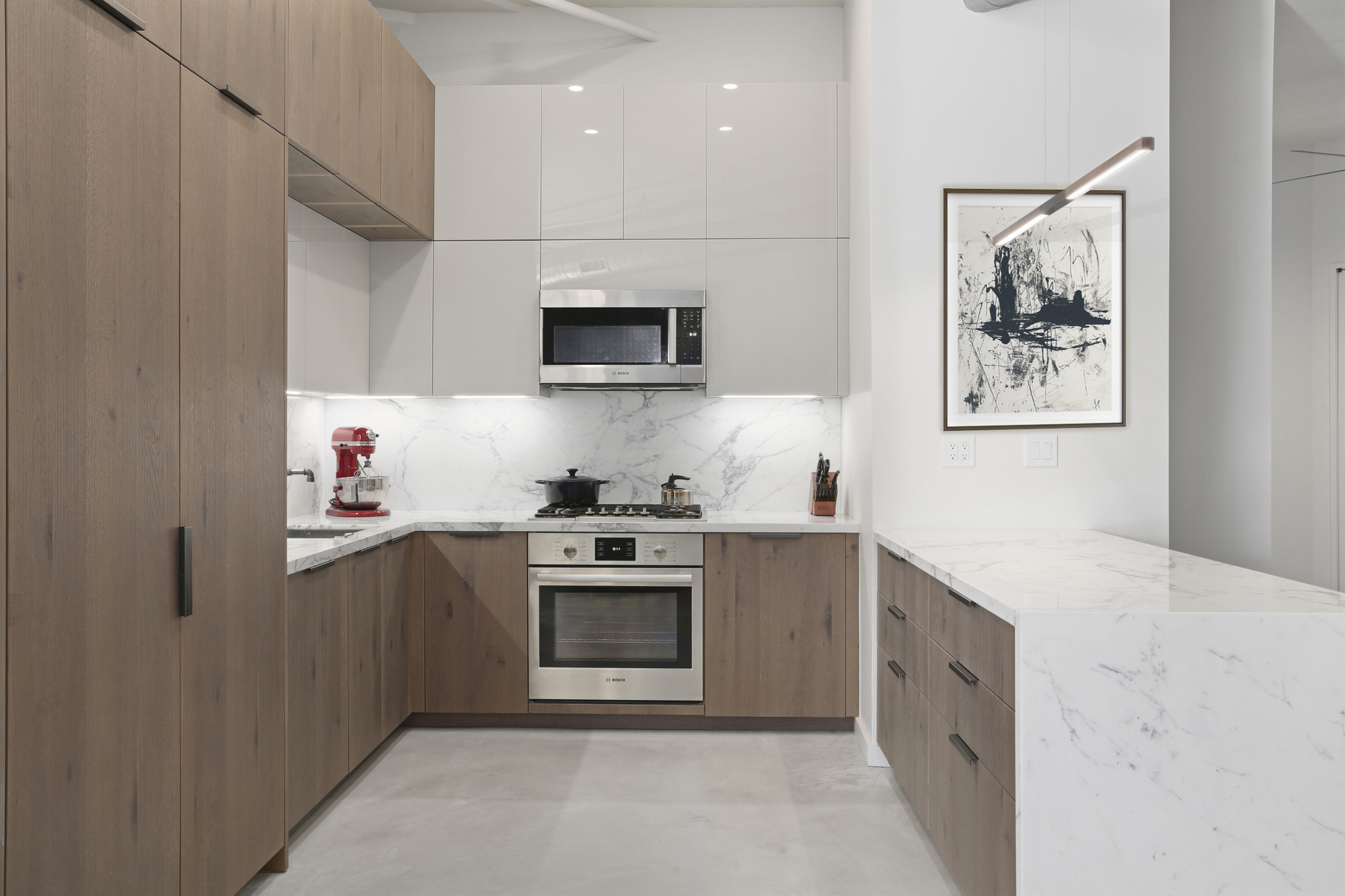KITCHEN DESIGN AND INSTALL AT TOY FACTORY LOFTS - BROOKLYN, NY