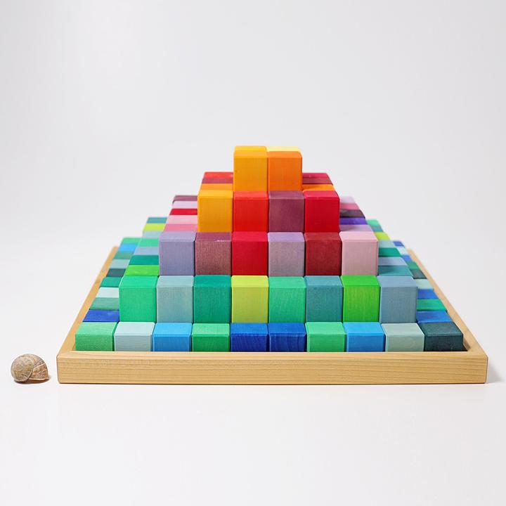 Grimm's Large stepped pyramid - A fabulous building block set that children will use from 0-8 years of age.