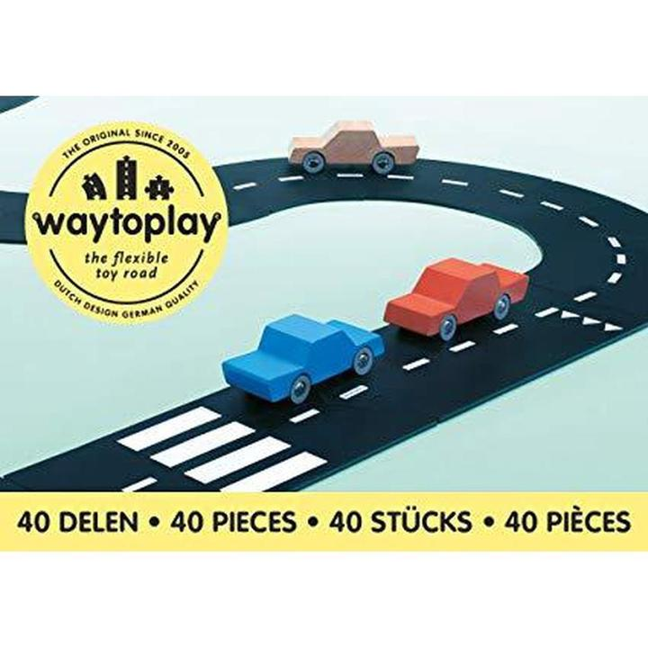 Way To Play Roads - Flexible roads that allow children to build their own tracks. They are easily washable and can be used outside.
