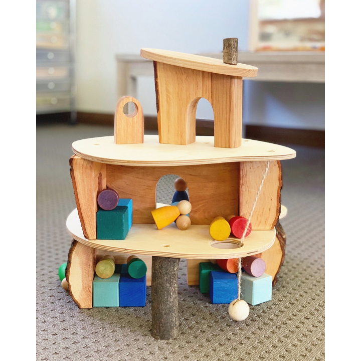 Magic Wood Classic Treehouse - An alternative to a traditional doll's house this treehouse is perfect for using with Grimm's and Grapat collections. The levels can be used separately or stacked together.