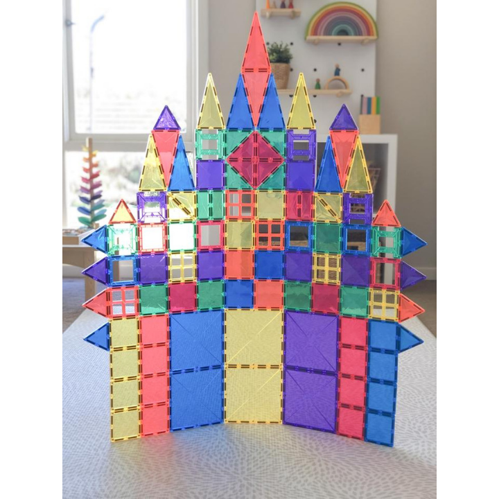 Magnetic Building Tiles - Connetix - A favourite for all children, these magnetic tiles will encourage children to build all sorts of constructions. They also look beautiful with natural light shining through them.