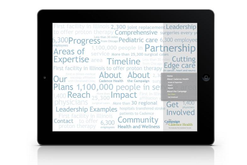 Cadence Health Capital Campaign iPad App