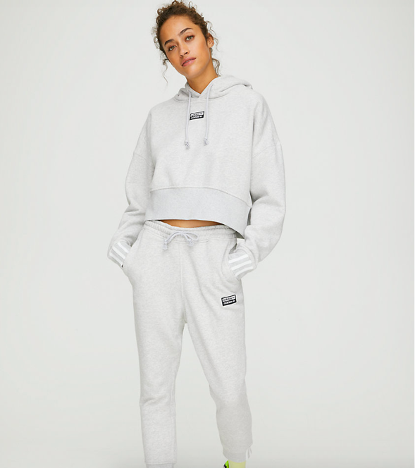 Adidas sweater and sweats from Aritzia