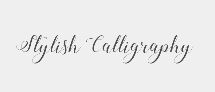 Sixty Eight Ave - Stylish Calligraphy Font