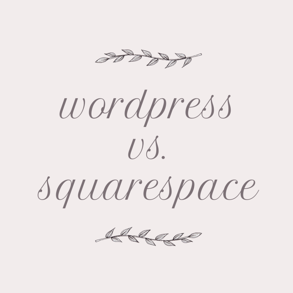 Sixty Eight Ave - Wordpress vs Squarespace