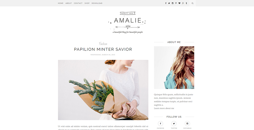 Sixty Eight Ave - Amalie blogger theme
