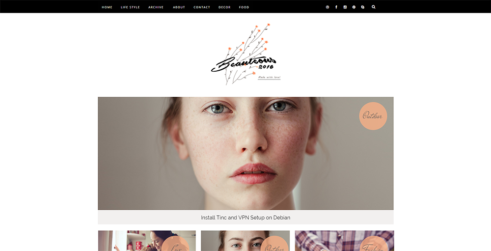 Sixty Eight Ave - beauteous blogger template