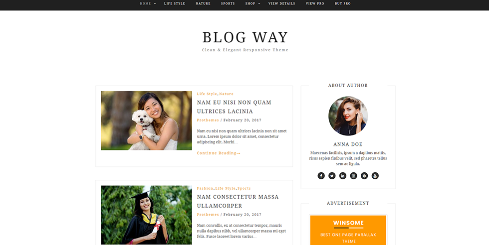 Sixty Eight Ave - blog way wordpress theme